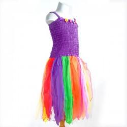 Rainbow Petal Pixie Dress
