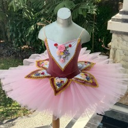 Flowers Decorated Ballet Tutu